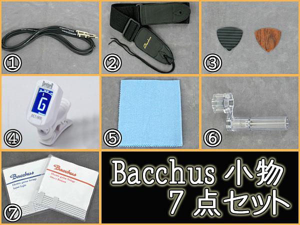 Bacchus エレキギター用 小物7点セット(アンプ無し)【送料無料】【smtb-tk】