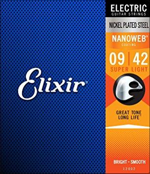 安売り 驚異の寿命でお買い得 Elixir 安心と信頼 エリクサー エレキ弦スーパーライト 送料無料 定形外郵便発送