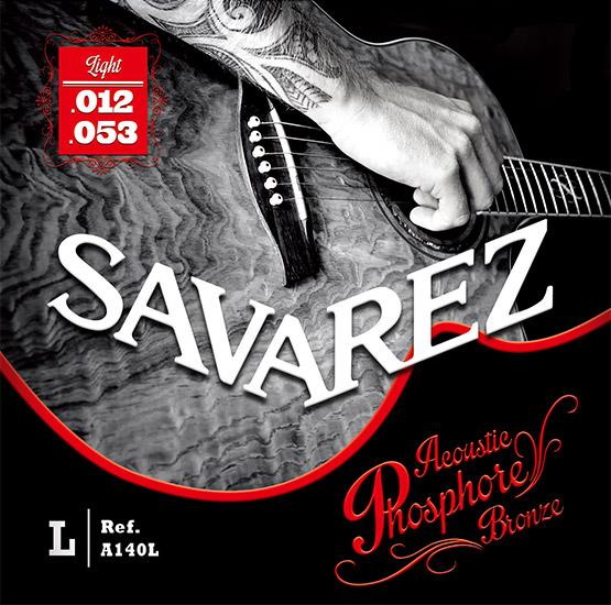 上品 サバレスからスチール弦登場 SAVAREZ A140L フォスファーブロンズ 引き出物 アコースティックギター弦 送料無料 定型郵便発送