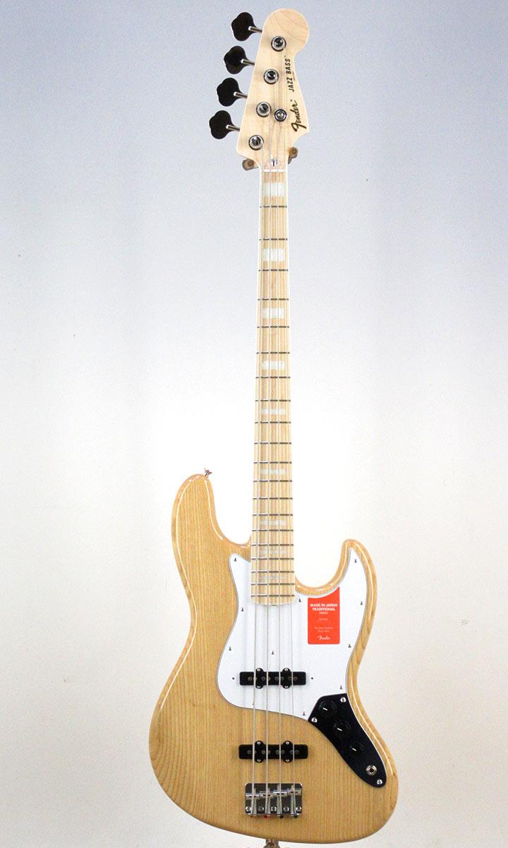 Fender Made in Japan Traditional '70s Jazz Bass NAT/M【フェンダーストラップ、コンパクトギタースタンド付き&レビュー特典付き】【送料無料】