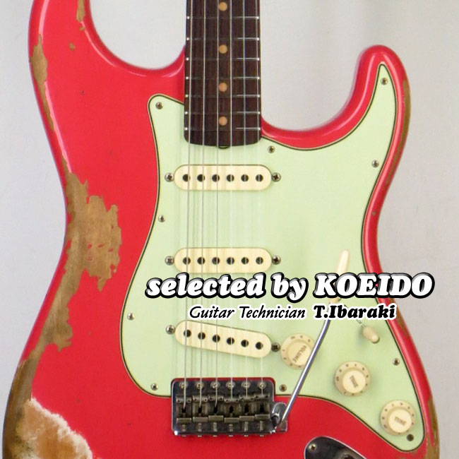【New】Fender Custom Shop '62 Stratocaster Heavy Relic FRD/RW(selected by KOEIDO)店長厳選!フェンダー 光栄堂