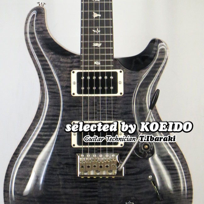 【New】Paul Reed Smith Custom24 Grey Black(selected by KOEIDO)店長厳選!命を持つ別格のグレイブラック!
