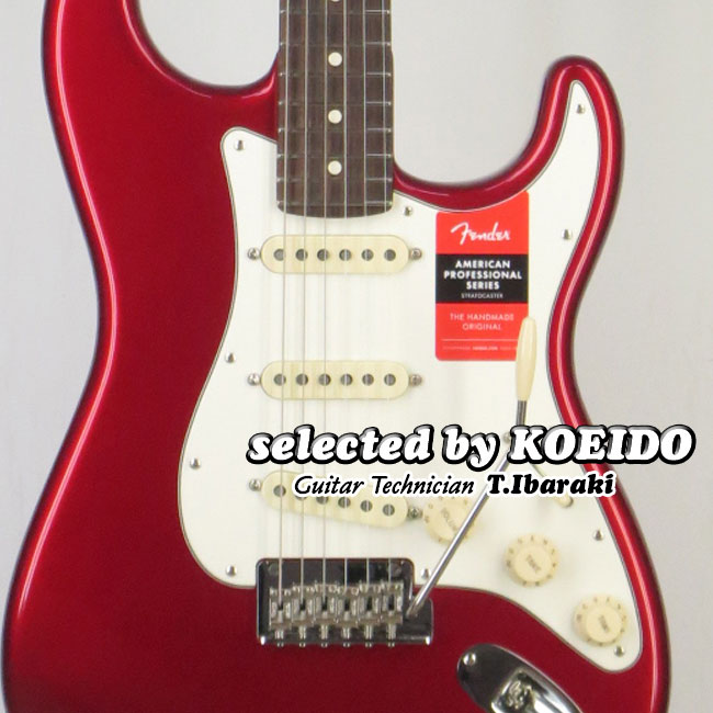 【New】Fender フェンダー USA American Professional Stratocaster RW CAR(selected by KOEIDO)店長厳選、生きた別格の最新プロフェッショナル!