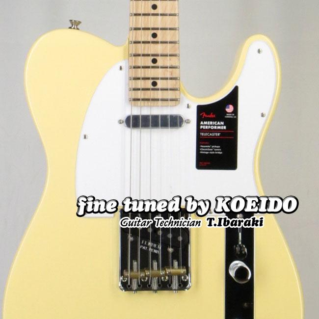【New】Fender American Performer Telecaster MN Vintage White(Fine tuned by KOEIDO)【フェンダーストラッププレゼント&レビュー特典付き!】