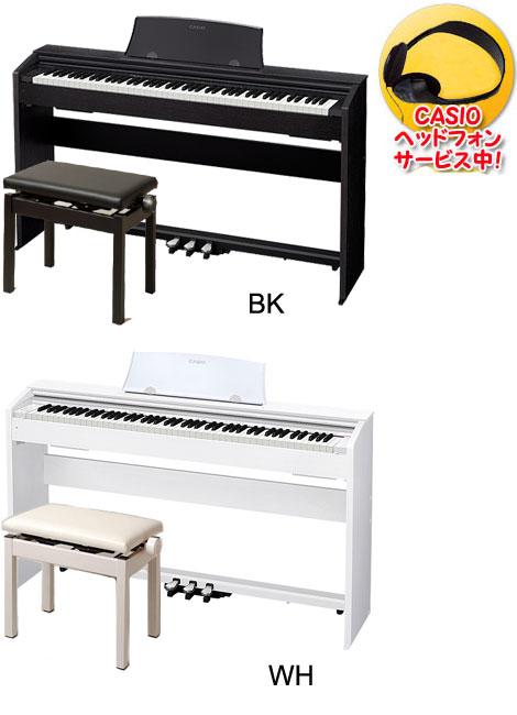 CASIO PX-770 Privia【イトマサ高低ピアノイス&ヘッドフォン付き】【電子ピアノ】【送料無料】【代引き不可】