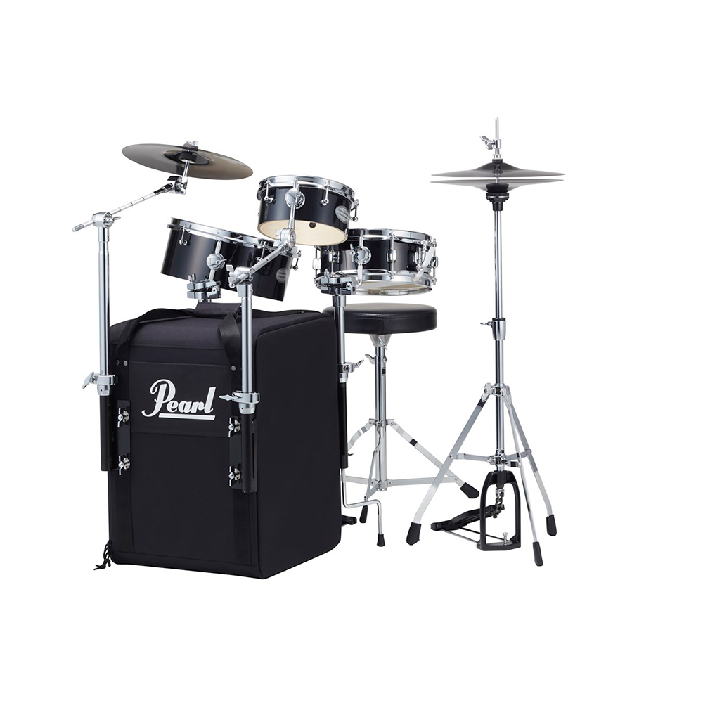 Pearl RT-703/C Rhythm Traveler Black Box <BR>コンパクトドラムセット<BR>【送料無料】
