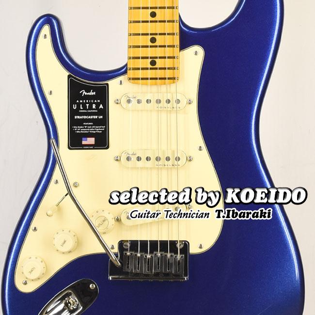 New Fender American Ultra トレンド Strato Left-Hand MN Cobra Blue selected by 店長厳選初 KOEIDO レフトハンド フェンダー 光栄堂 別格のウルトラ 即納最大半額