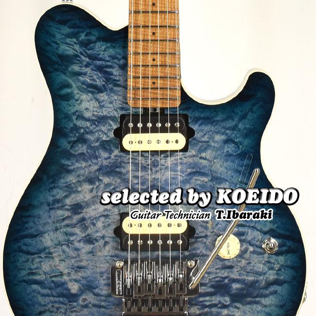 高級 MusicMan Axis Yucatan Blue Quilt 売り込み 2021 Collection 店長厳選 艶やかに歌い吼える別格の限定アクシス by KOEIDO selected