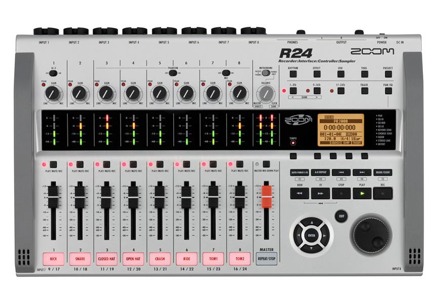 ZOOM ズーム R24【SCR-16ケース付き!】【マルチトラックレコーダー】【送料無料】【USBメモリ、ACアダプター付属】