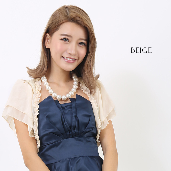 Bolero wedding Bolero with elegant fluffy ruffles ♪ party Bolero 2 colors