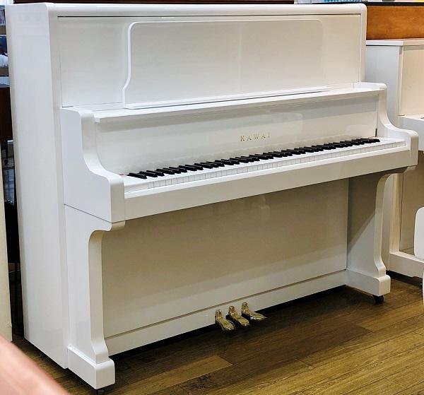 【中古再調整品アップライトピアノ】<BR>カワイ US-50<ホワイト特注>