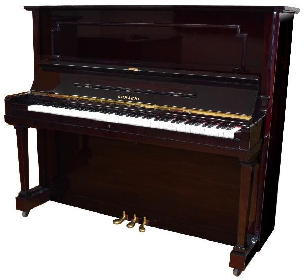 【中古再調整品アップライトピアノ】オオハシ 132EM