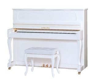 【新品アップライトピアノ】スタインバッハ DS2<ホワイト特注/消音機能付>