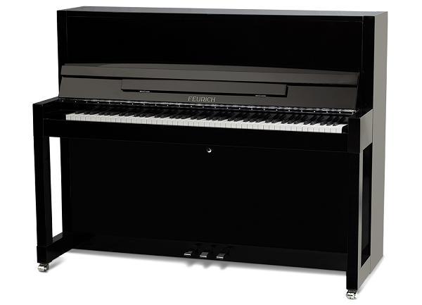 【新品アップライトピアノ】 フォイリッヒMod.115-Premiere<BlackPolish SilverMetal>