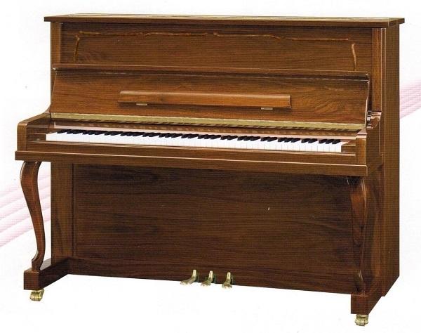 【新品アップライトピアノ】 ベーニング EU-110WP<消音機能付>
