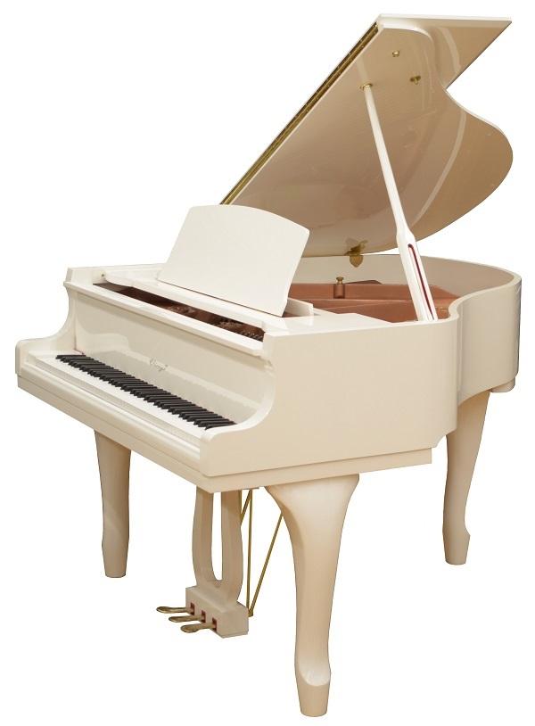 【新品グランドピアノ】 ヴィエルジェV-148IP <ホワイト艶出し仕上げ>
