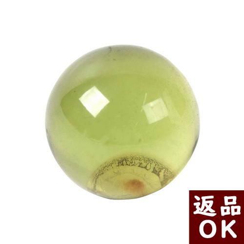 【月1回までお客様都合の返品送料も無料!】琥珀 原石 ルース カリビアングリーンアンバー 丸玉 23.1mm