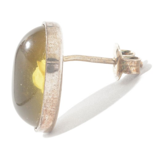 琥珀色耳环耳环玫瑰凹版银樱桃红琥珀色