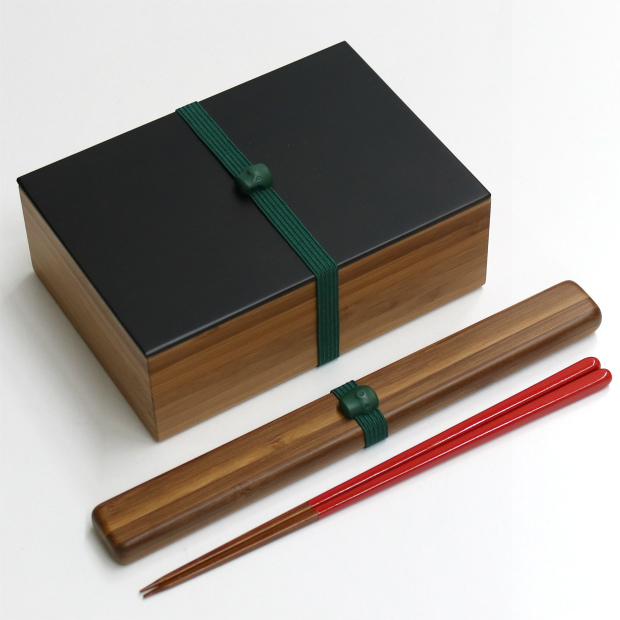 オンライン限定 『4年保証』 一段弁当箱 箸ケースセット 全国どこでも送料無料