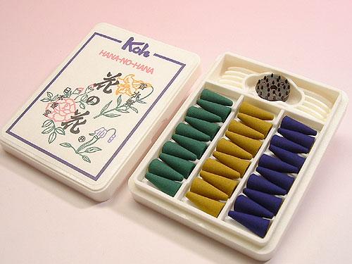 日本香堂のお香 花の花 コーン型30個入(旧パッケージ)