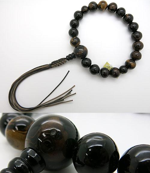 男性用のお数珠 本海松 18玉 共仕立て 紐房