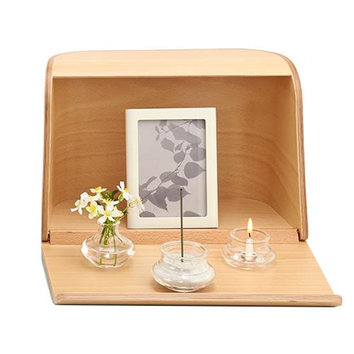 日本香堂の仏具 やさしい時間 祈りの手箱ナチュラル