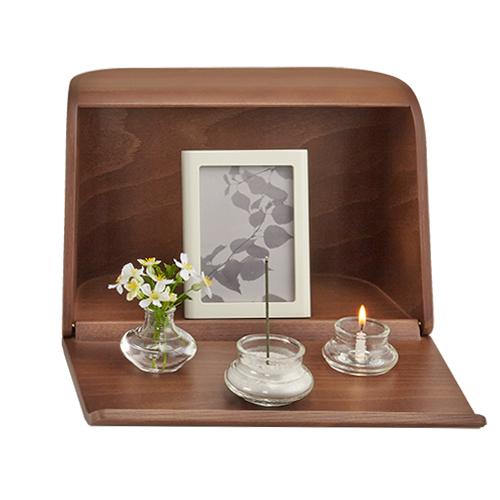 【ポイント10倍&お香プレゼント中】 日本香堂の仏壇 やさしい時間祈りの手箱ブラウン