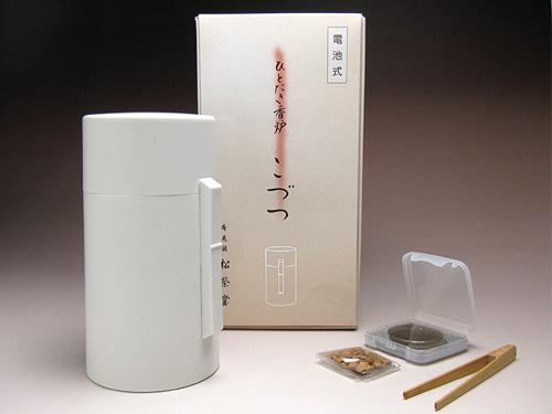 松栄堂の電子香炉 ひとたき香炉 こづつ(白)【送料無料】