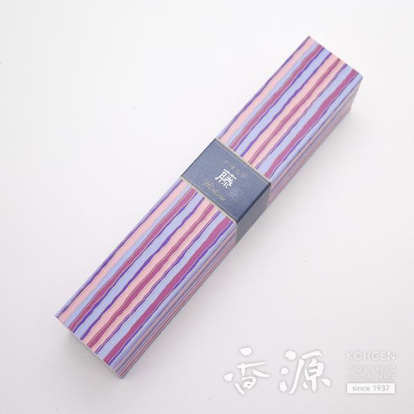 倉庫 つややかで品のあるパウダリックフローラルの香りのお香 日本香堂 かゆらぎ 藤 スティック型 お買得