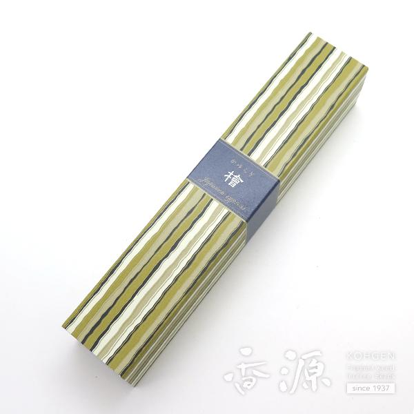 清々しく心くつろぐ檜の香り 日本香堂のお香 本物 かゆらぎ スティック40本入 メーカー直送 檜 ひのき