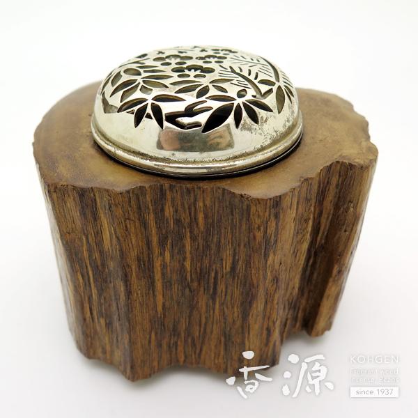 【限定品】沈香香炉 金属ホヤ(梅) 約259g