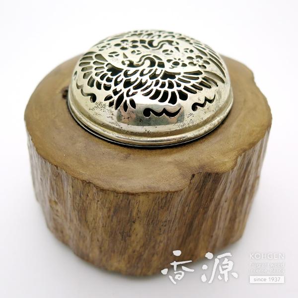 【限定品】沈香香炉 金属ホヤ(鳳凰) 約234g