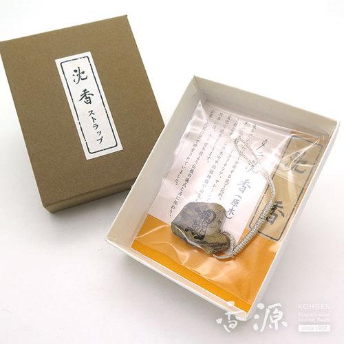 【限定品】香木そのままストラップ タニ沈香 午 No.3