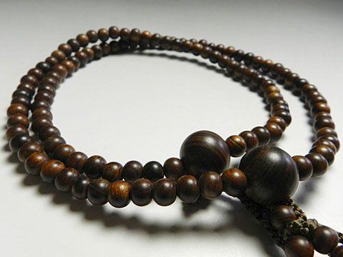 男性用のお数珠 栴檀 二双半法華 共仕立て日蓮宗