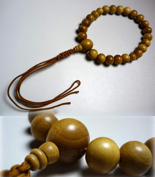 男性用のお数珠 白檀22玉 紐房