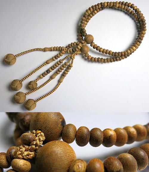 女性用のお数珠 沈香 八寸 平法華 共仕立て 浜梨房