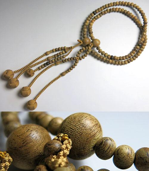 [10%OFFセール開催中] 男女兼用のお数珠 沈香 尺法華 共仕立て 浜梨房