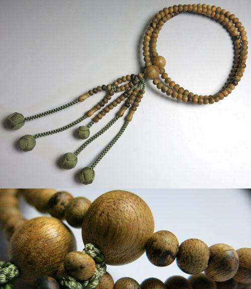 男女兼用のお数珠 沈香 尺法華 共仕立て 深草房