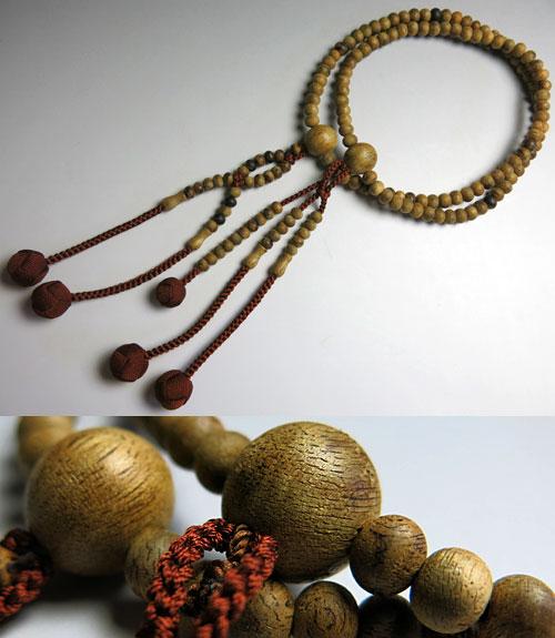 男女兼用のお数珠 沈香 尺法華 共仕立て 焦茶房