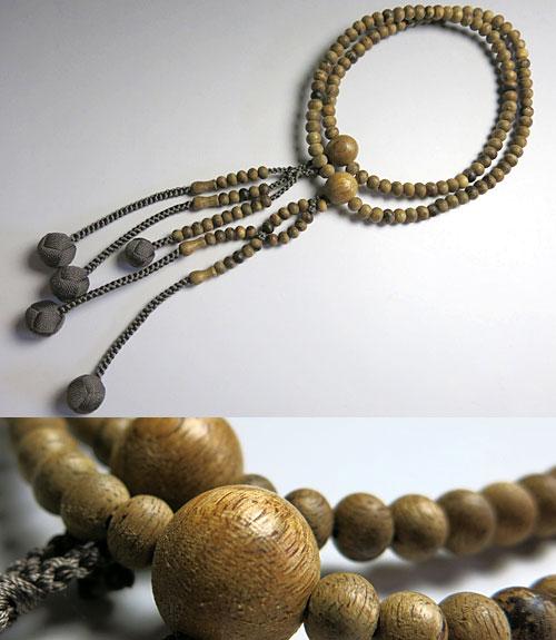 男女兼用のお数珠 沈香 尺法華 共仕立て ねず茶房