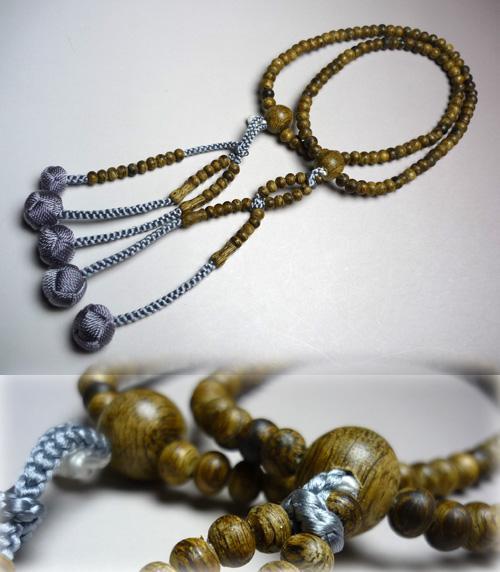 女性用のお数珠 沈香共仕立 法華 灰藤房 限定品【数珠】【念珠】【沈香】