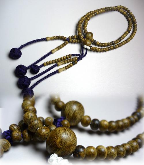 女性用のお数珠 沈香共仕立 法華 紫紺房 限定品【数珠】【念珠】【沈香】