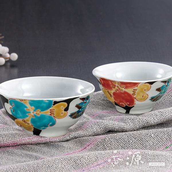 九谷焼 組飯碗 カワセミ/夫婦茶碗/結婚記念日や結婚御祝に