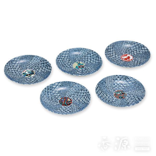 九谷焼 5.2号 皿揃 時代絵