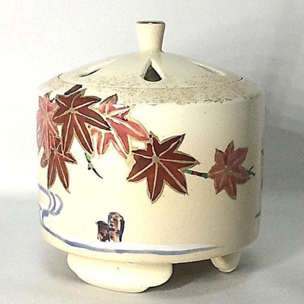 京焼 香炉 仁清(にんせい) 紅葉