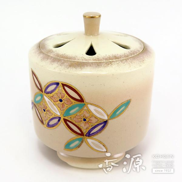 【ポイント10倍&お香プレゼント中】 京焼 香炉 仁清(にんせい) 七宝
