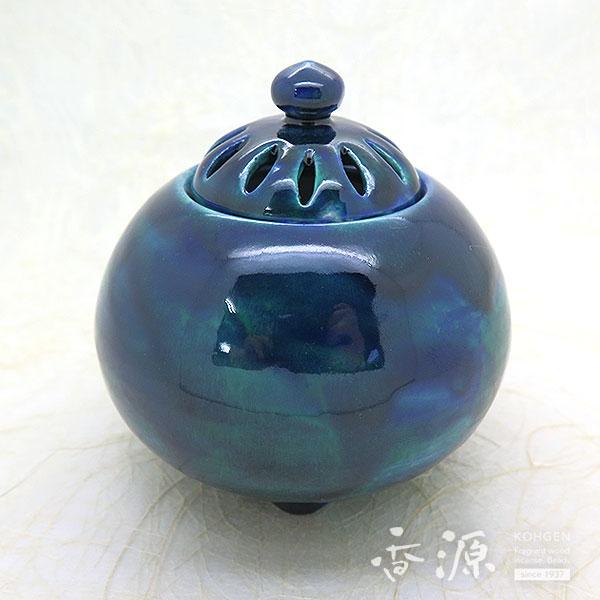京焼 香炉 釉彩 碧