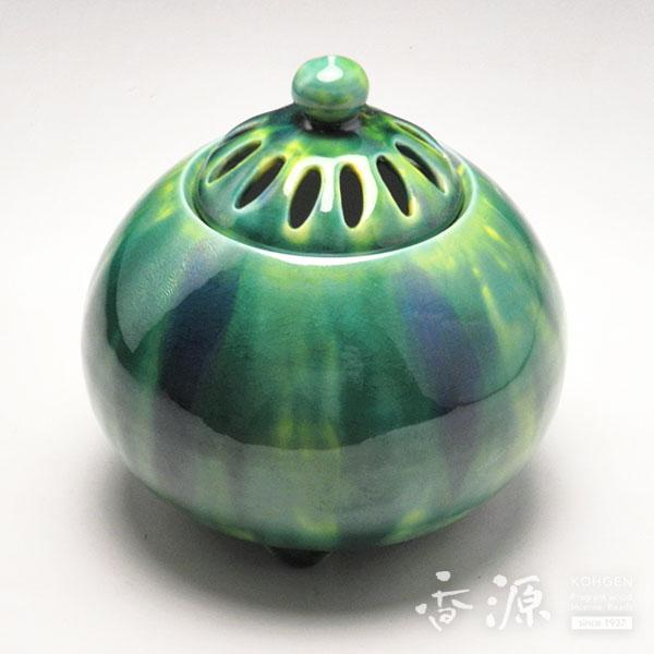 京焼 香炉 釉彩翠