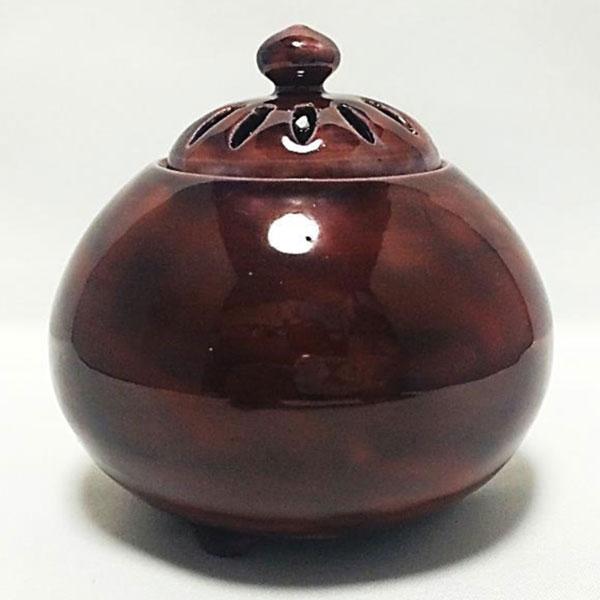 京焼 香炉 釉彩(紫)
