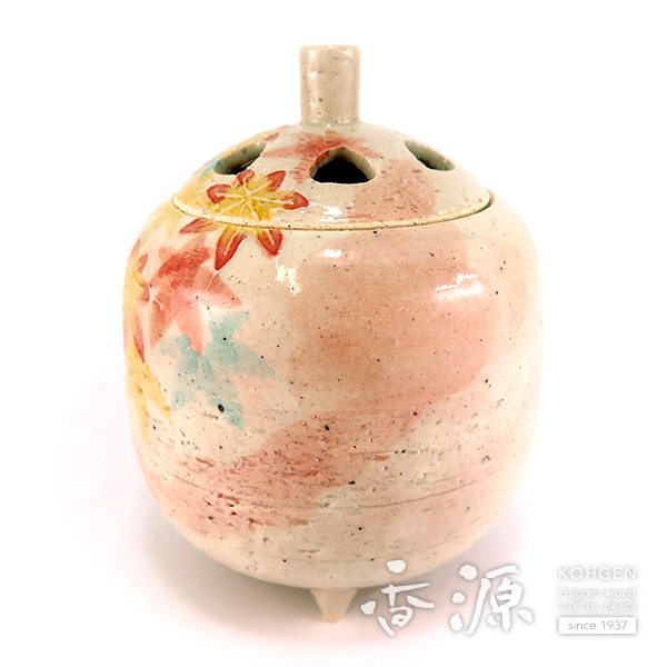京焼 香炉 紅葉